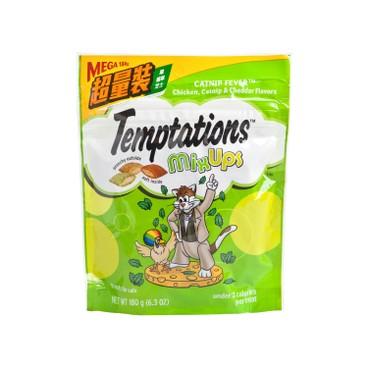TEMPTATIONS - 貓小食三重奏超量裝 - 芝士雞貓草 - 180G