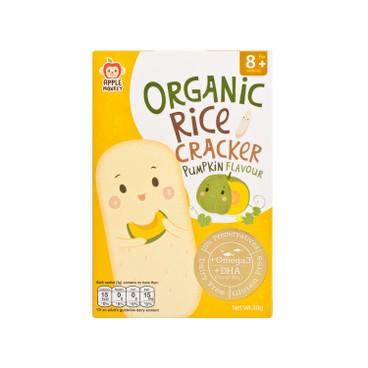 APPLE MONKEY - Organic Dha Rice Cracker pumpkin - 30G