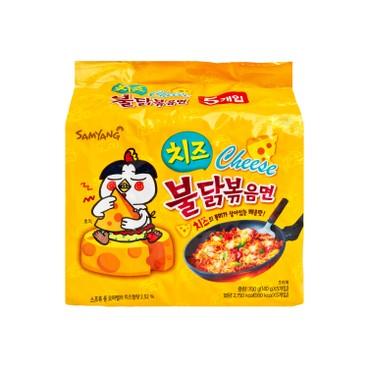 SAMYANG - Hot Chicken Cheese Flavor Stir Fried Ramen - 140GX5