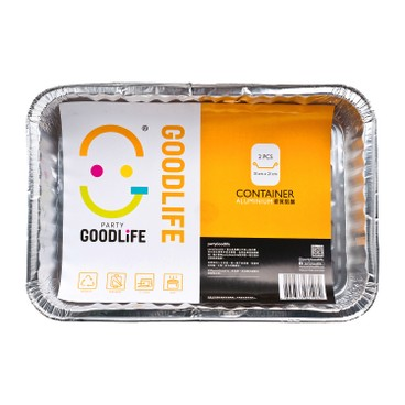 GOODLIFE - Rectangle Foil Container - 2'S