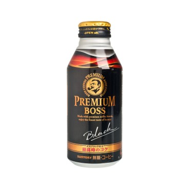 SUNTORY - Premium Boss Sugar free Black Coffee - 390ML