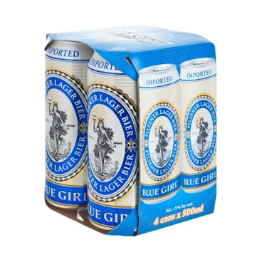 BLUE GIRL - Beer King Can - 500MLX4