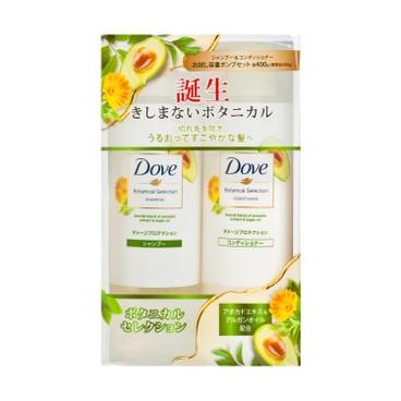 多芬(平行進口) - 日本植萃 防斷髮洗護套裝 - 400GX2