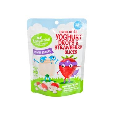 KIWIGARDEN - Greek Style Yoghurt Drops Strawberry Slices - 14G