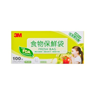 3M - 食物保鮮袋-細袋 - 100'S