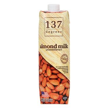 137 DEGREES - 杏仁奶-無糖 - 1L