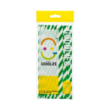 GOODLIFE - Paper Drinking Straw - 15'S