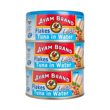 AYAM BRAND - Tuna Light Flakes In Water Multipack - 150GX3