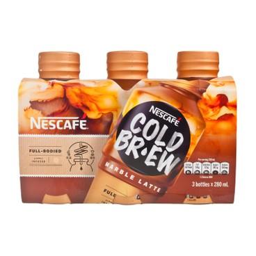 NESCAFE 雀巢 - 冷萃咖啡飲料-雲石牛奶 - 280MLX3