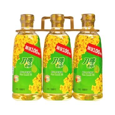 刀嘜 - 純正芥花籽油 (增量裝) - 1LX3