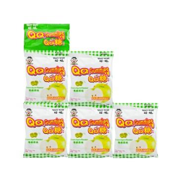 旺旺 - 旺仔QQ糖-青蘋果味 (5連包) - 25GX5