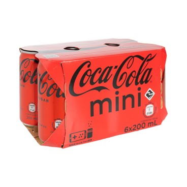 COCA-COLA - Coke Zero mini Can - 200MLX6
