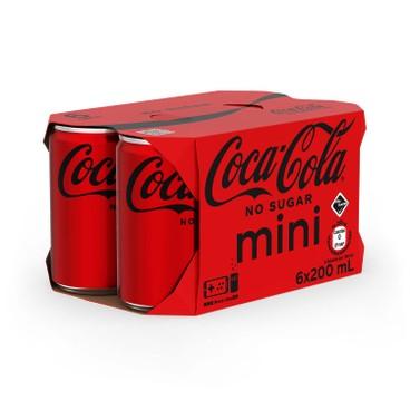 可口可樂 - 無糖汽水-汽水迷你罐 - 200MLX6