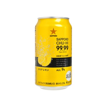 SAPPORO 七寶札幌 - 99.99 CHU-HI 檸檬透明酒 - 350ML