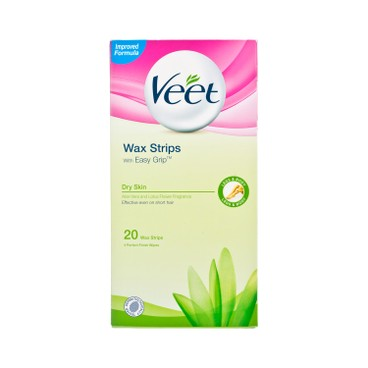 VEET - Wax Strips With Easy Grip dry Skin - 20'S