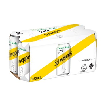 Schweppes - Cream Soda Zero - 330MLX8