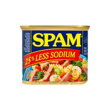 SPAM(PARALLEL IMPORT) - 25% LESS SODIUM LUNCH MEAT - 340G