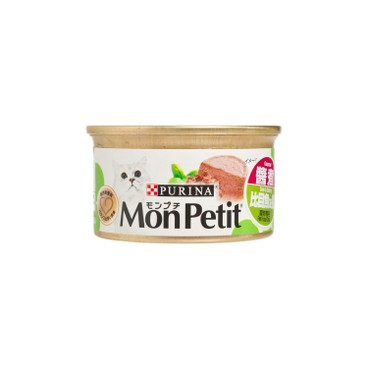 MON PETIT - 貓罐至尊 - 醬煮比目魚及蝦 - 85G