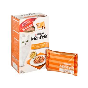 MON PETIT - 滋味乾貓糧 - 海鮮口味(含鰹魚乾) - 240G
