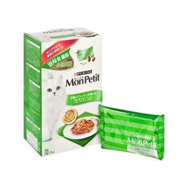 MON PETIT - 滋味乾貓糧 - 小魚口味(含小魚乾) - 240G