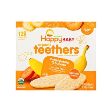 HAPPY BABY - Organic Banana Sweet Potato Wafers - 48G