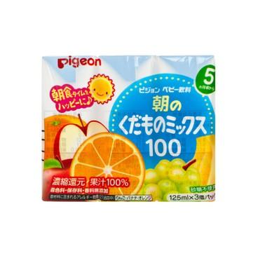 PIGEON - Breakfast Mixed Fruit Juice - 125MLX3