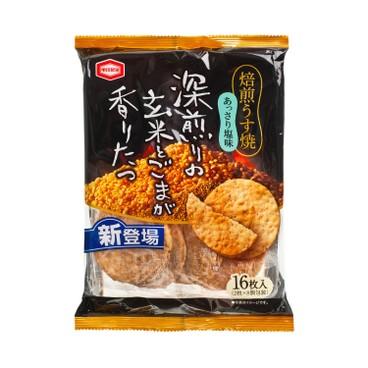 KAMEDA - Roasted Salted Thin Rice Cracker - 16'S