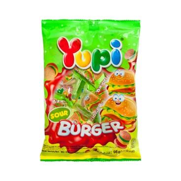 YUPI - 橡皮糖-漢堡飽-酸沙 - 96G