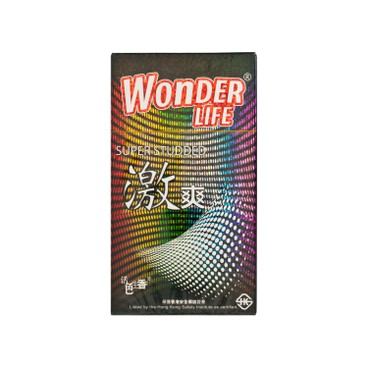 WONDER LIFE - Super Studded Latex Condom - 6'S