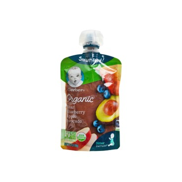 GERBER - Organic 2nd Foods Pear Blueberry Apple Avocado Pouch - 3.5OZ