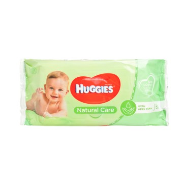 HUGGIES(PARALLEL IMPORT) - Wipes Natural Care Aloe Vera - 56'S