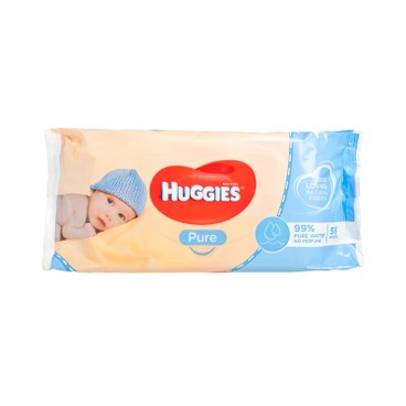 HUGGIES(PARALLEL IMPORT) - Wipes Pure 99 Water - 56'S