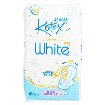 KOTEX - WHITE SW 28CM - 18'S