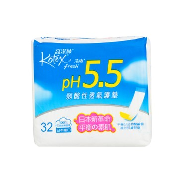 高潔絲 - pH5.5弱酸性護墊-普通 - 32'S