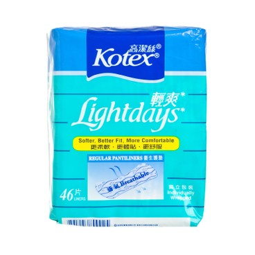 KOTEX - Lightdays Pantiliners Regular - 46'S