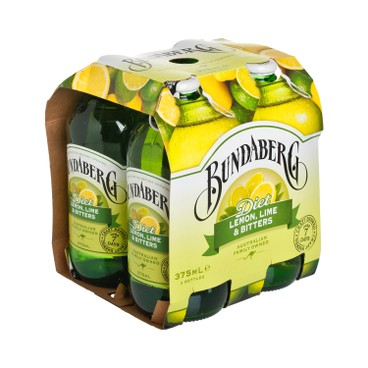 BUNDABERG (PARALLEL IMPORT) - Lemon Lime Bitter - 4'S