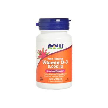 NOW FOODS - Vitamin D 3 5000 iu Softgels - 120'S
