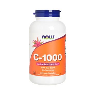 NOW FOODS - C 1000 Veg Capsules - 250'S