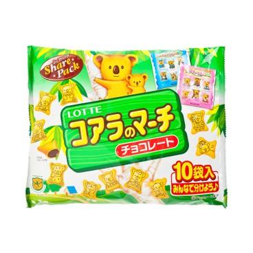 樂天 - 熊仔餅-朱古力味 (家庭裝) - 12GX10