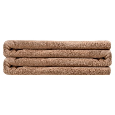 LIVING GOODS - Super Absorbent Coral Fleece Bath Towel 70 x 140 cm Brown - PC