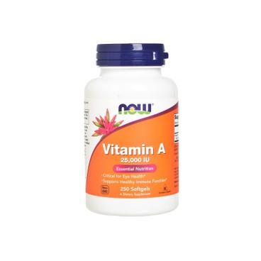 NOW FOODS - Vitamin A 25000 iu Softgels - 250'S