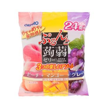 ORIHIRO - 蒟蒻啫喱-桃、芒果、提子 - 480G