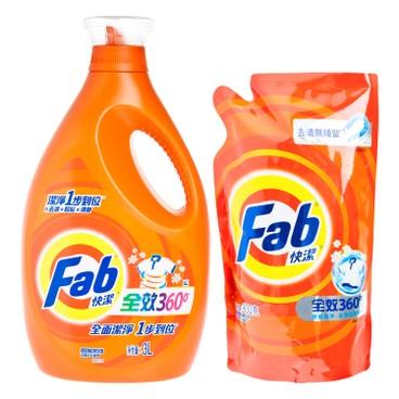 FAB - Laundry Liquid Promotion Pack Set - 3L+900G