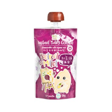 BABY BASIC - Baby Congee squeeze Pouch Beetroot Millet - 120G