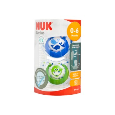NUK - 矽膠安撫奶咀連蓋 - 1號(0-6M) - 隨機顏色 - 2'S