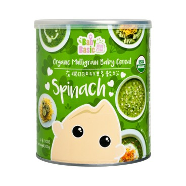 BABY BASIC - Organic Multigrain Baby Cereal Spinach - 300G