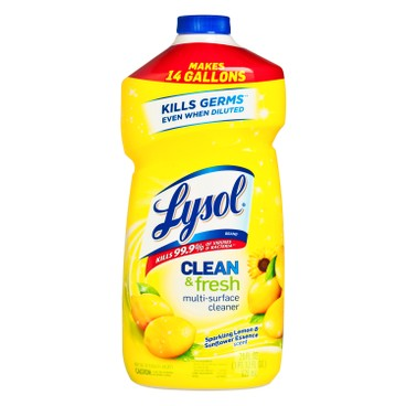 LYSOL - Clean Fresh Multi surface Cleaner Sparkling Lemon Sunflower Essence - 828ML