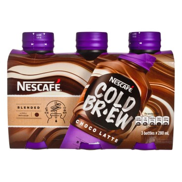 NESCAFE - Cold Brew Coffee Beverage Chocolate Flaour - 280MLX3
