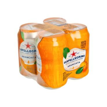 聖沛黎洛 - 有氣橙菓汁 - 330MLX4