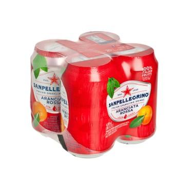聖沛黎洛 - 有氣血橙菓汁 - 330MLX4